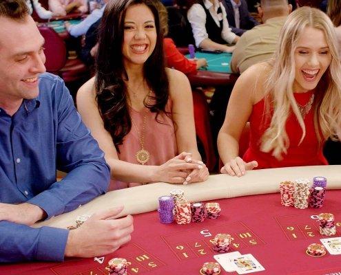 smiling blackjack players