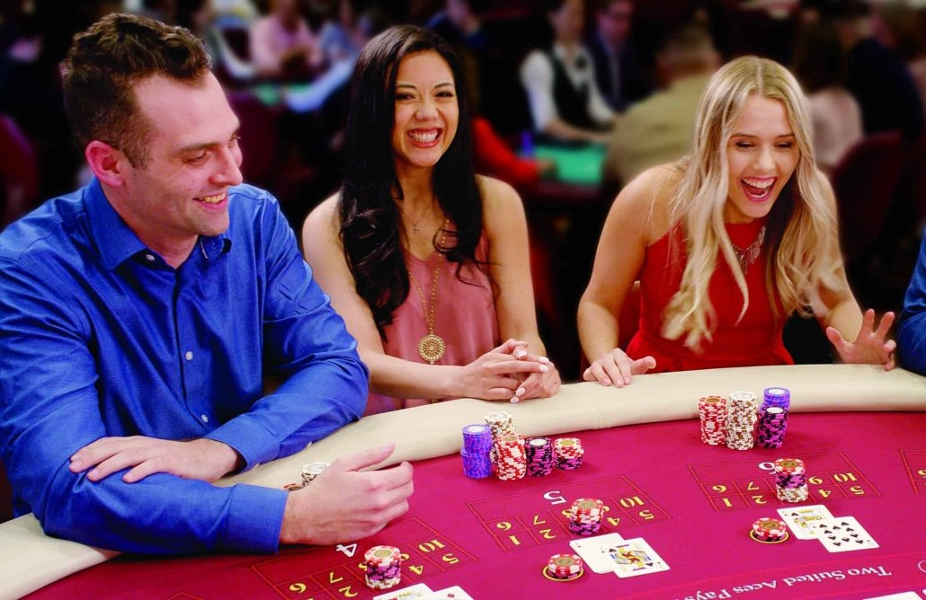 People playing blackjack